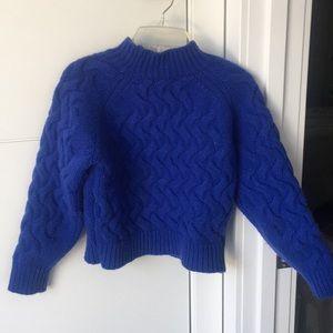 JOA Blue Cropped Sweater